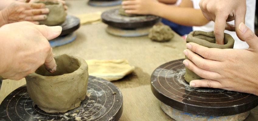 70名様の陶芸教室